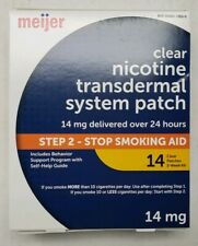 Meijer Clear Nicotine Patch Transdermal System 14mg 14 CT EXP 11/2022 Step 2