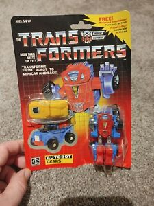 1984 Transformers Autobot GEARS Hasbro Japan Minibot + BONUS Motorized Vehicle!