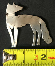 1928 ANTIQUE TRADE SILVER DOG WOLF NATIVE AMERICAN FUR TRADE PENDENT DATED TEXAS