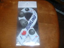 I LOVE BOWLING RIBBON SHAPE MAGNET GREAT FOR CAR OR ANYWHERE
