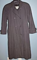 TOWNE by LONDON FOG Women's Dark-Gray Double-Breasted Belted Trench Coat (sz 12)