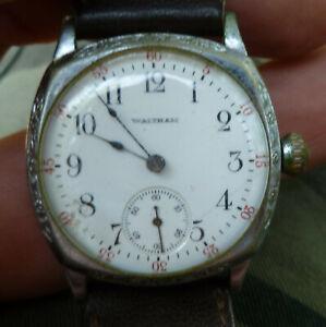 Antique Mens Waltham 0s 15j 165 Watch for Repair