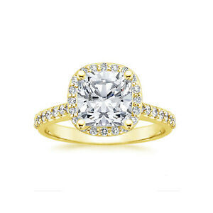 Round Cut 1.20 Ct Diamond Women Engagement Ring Solid 14K Yellow Gold Size 5 6 7