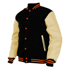 Handmade College Sports Baseball Wool&Leather Letterman Varsity Jacket