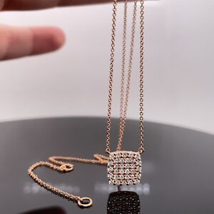 Bony Levy 18k Rose Gold Rita Diamond Pendant Necklace New $1595