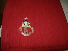 Set Of 4 Red Ribbed Fall Placemats-Embroidered Scarecrow In Corner-#R18