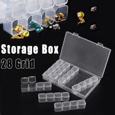 Grade De 28 Caixa de armazenamento acessório Organizador Pedra Bordado Joias Anel contentor