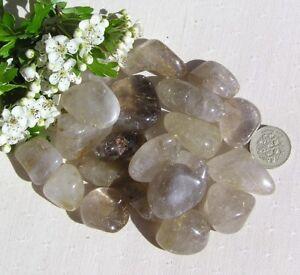 10 Stunning Rutilated Quartz Crystal Polished Tumblestones - Golden Rutile