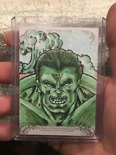 2018 Marvel Masterpieces Hulk Sketch Card by Tom Amici
