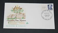 AUSTRALIA 1972 7c PRIME MINISTER HUGHES WITH TAB ISSUE ON ROYAL FIRST DAY COVER