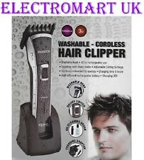 MENS PROFESSIONAL ELECTRIC RECHARGEABLE HAIR BEARD CLIPPERS CUTTERS TRIMMERS SET