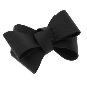 Plain Bow Shoe Clips Shoes Buckle Clip Party Shoe Charms Accessories Black
