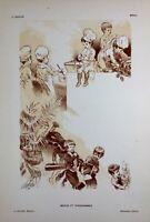 Menus et Programmes 1898 Illustration L. Lefèvre Lithographie Chaix