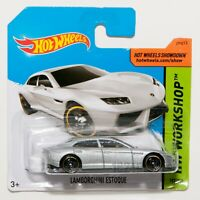 Lamborghini Estoque silver, 2014 Hot Wheels scale 1:64, model car toy gift