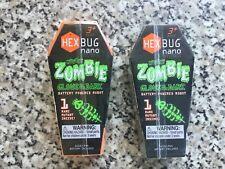 2 Hexbug Nano bogue Zombie Edition GLOW IN THE DARK HALLOWEEN cadeau en vrai