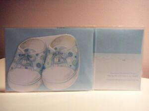 Carol's Rose Garden - Congratulation on your new baby boy (blue shoe)