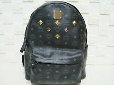 Details zu VTG MCM By Michael Cramer Munchen Leather Backpack Black Small Boston Visetos