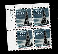 US  1963 Sc# 1240 5 c Christmas Mint NH  PLATE BLOCK of 4