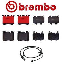 For BMW E71 F15 F16 X5 X6 4.4L V8 Front Ceramic Disc Brake Pads Brembo w/ Sensor