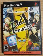 Persona 4 + BONUS DISC PLAYSTATION 2 NTSC U/C FACTORY SEALED