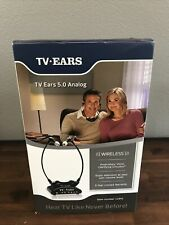New TV Ears 5.0 Analog Wireless Voice Clarifying Headset System 11641
