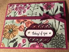Stampin' Up Handmade Thinking of You Hello Friend General Greeting Card Floral