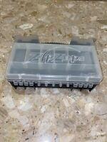 "Zip Zaps Black Clear Carry Case Radio Shack 12x8x3"""
