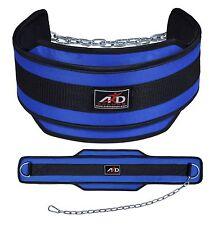 Neoprene Weight Lifting Dip Belt Exercise Belt Fitness Body Building Belt- Blue