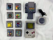 Original 1989 NES Grey Nintendo Gameboy Lot Bundle Games Game Genie DMG-07 Mario