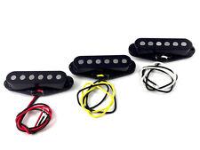 Black Alnico 5 Big Pole Pickup Set for Fender Stratocaster/Strat® PU-SBA-SETB