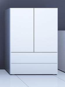 """Kommode """"Massa"""" Anrichte Sideboard Schrank Flur Wohnzimmer Modern Weiß Hochglanz"""