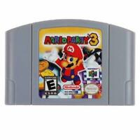 US Version Mario Party 3 Video Game Cartridge Console Card For Nintendo N64