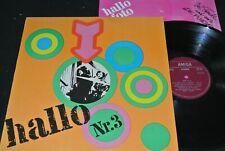 HALLO Nr.3 Puhdys, Renft, Electra / DDR 1A/2A Matrix LP 72 + Poster AMIGA 855333