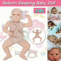 Unpainted Reborn Kits Vinyl Head Limbs Cloth Body Eyes DIY Reborn Baby Doll