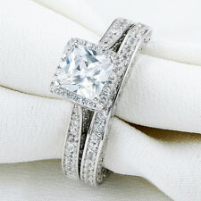 Wedding Engagement Ring Set Size 8 Newshe Princess White Cz 925 Sterling Silver