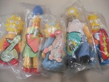 5 PLUSH SIMPSON`S CHARACTER TOYS ISSUED BY BURGER KING AS PREMIUMS 1991-92 MINT!