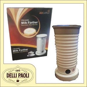 Montalatte elettrico AllCoffee Milk Latte Caffè Schiuma Forther 550W Bianco