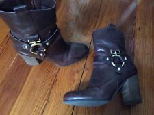 Women's Guess brown leather booties size 8