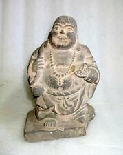 Antique Old Rare Indian Hand Carved Sand Stone Laughing Buddha Figurine Statue