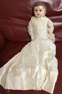 """17"""" antique oil cloth Martha Chase stockinet baby doll Second Place Club Winner"""