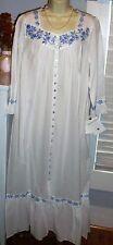 NWT M Medium POCKETS Eileen West Nightgown Robe 100% Lawn Cotton NEW Long
