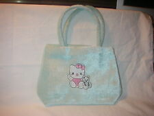 SANRIO HELLO KITTY VELOUR PURSE WITH HANDLES PALE GREEN NEW