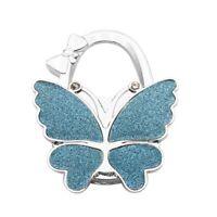 Rhinestone Butterfly Bag Metal Hanger  Hooks Holder Folding Purse Table