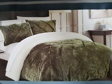 Chic Home 3 Piece Josepha Pinch Pleated Queen Bed In A Bag Comforter Set Green