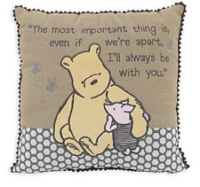 """Disney Throw pillow Winnie the Pooh Piglet Embroidered Baby Nursery Accent 15"""""""