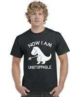 Now I Am Unstoppable Dinosaur Kids T-Shirt Tee Top Ages 3-13