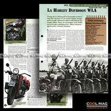 #vm001.11 ★ WW2 MOTO HARLEY-DAVIDSON WLA 750 ★ Military Fiche Véhicule Militaire