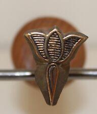 Fer à Dorer Fleuron modèle Alde azuré XVIe s. Bronze Reliure Relieur Doreur #12