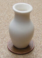 1:12 Cream Vase Dolls House Miniature Ceramic Ornament Flower Accessory C24