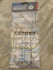 KIKKERLAND SET OF 50 LONDON MINI METRO MAP FRIDGE MAGNETS UNDERGROUND MAP GIFT